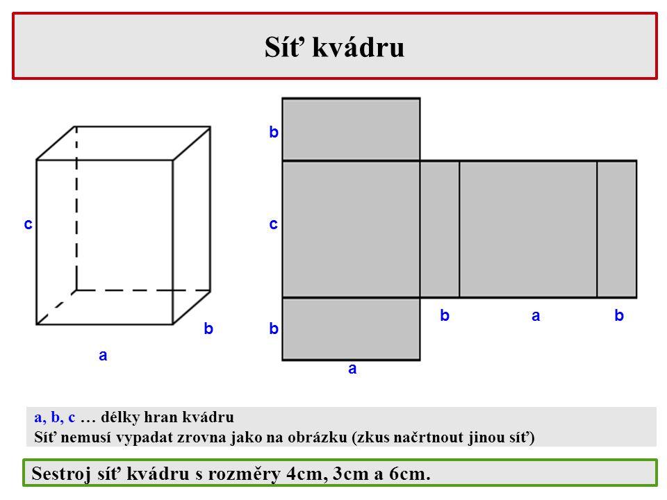 Povrch krychle Krychle se skládá ze čtverců, proto využijeme vzorec pro výpočet obsahu čtverce S = a.