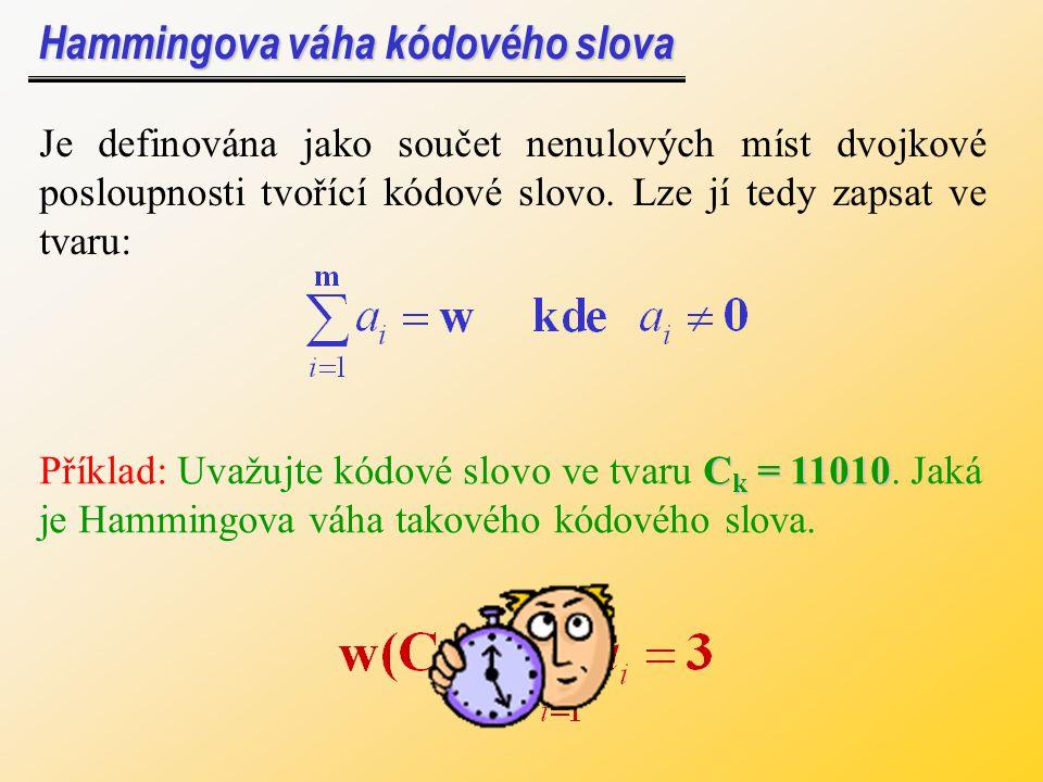 Opakovací kód Opakovací kód - přenášený znak se vyšle vícekrát (lichý počet krát - např.
