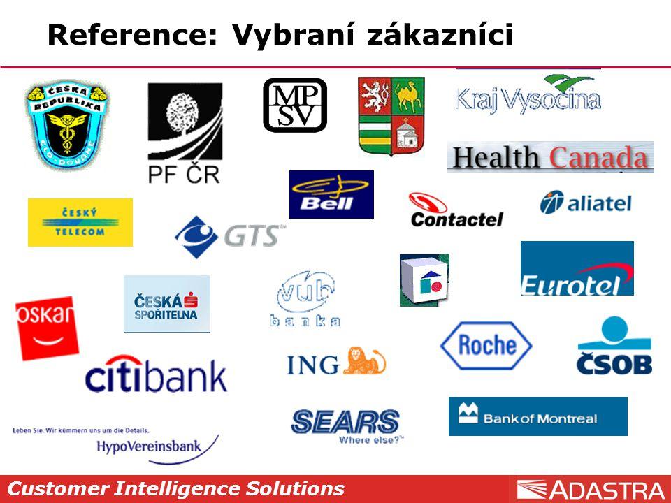 Customer Intelligence Solutions Reference: Vybraní zákazníci