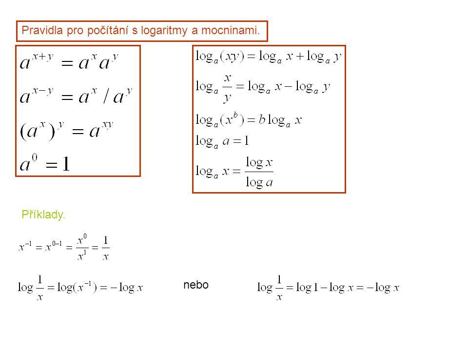 Příklady.Posun po ose x v exponentu má multiplikativní účinek Na funkční hodnotu.