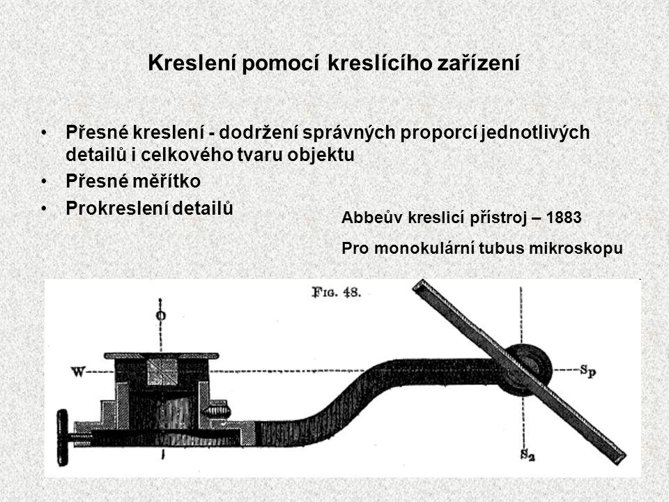 Kreslení pomocí kreslícího zařízení Přesné kreslení - dodržení správných proporcí jednotlivých detailů i celkového tvaru objektu Přesné měřítko Prokre