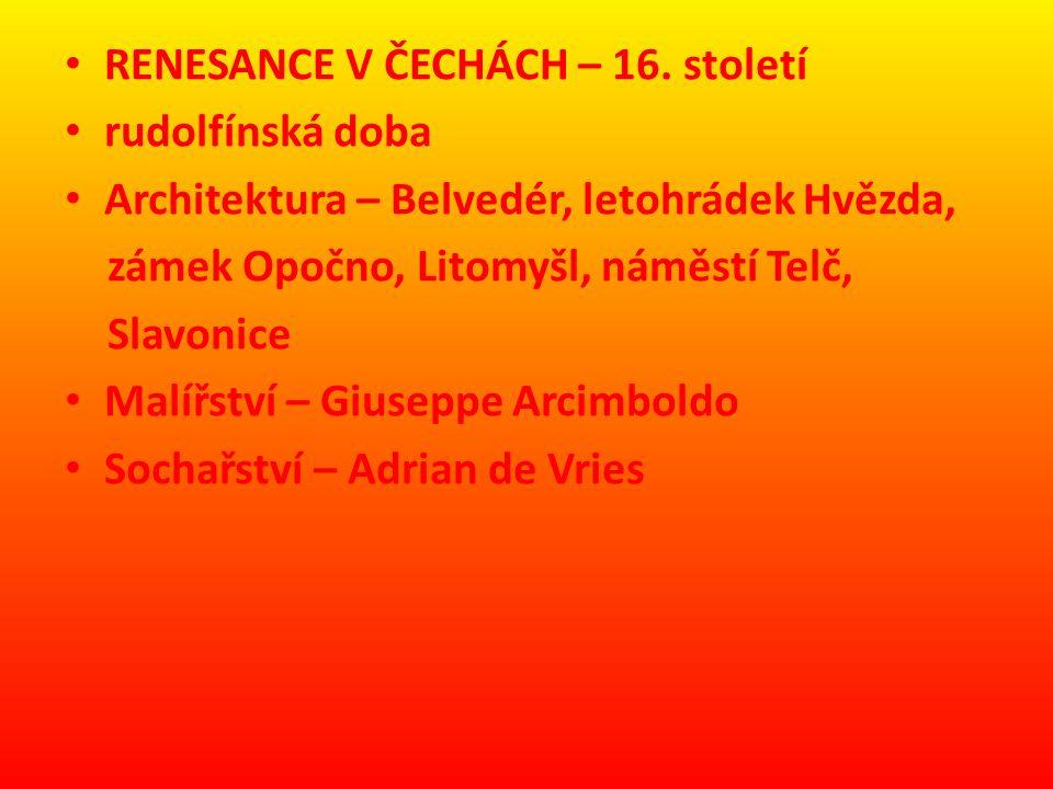 RENESANCE V ČECHÁCH – 16.