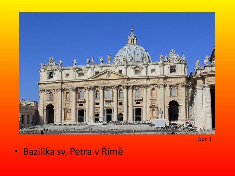 Bazilika sv. Petra v Římě Obr. 1