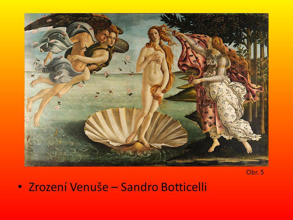 Zrození Venuše – Sandro Botticelli Obr. 5