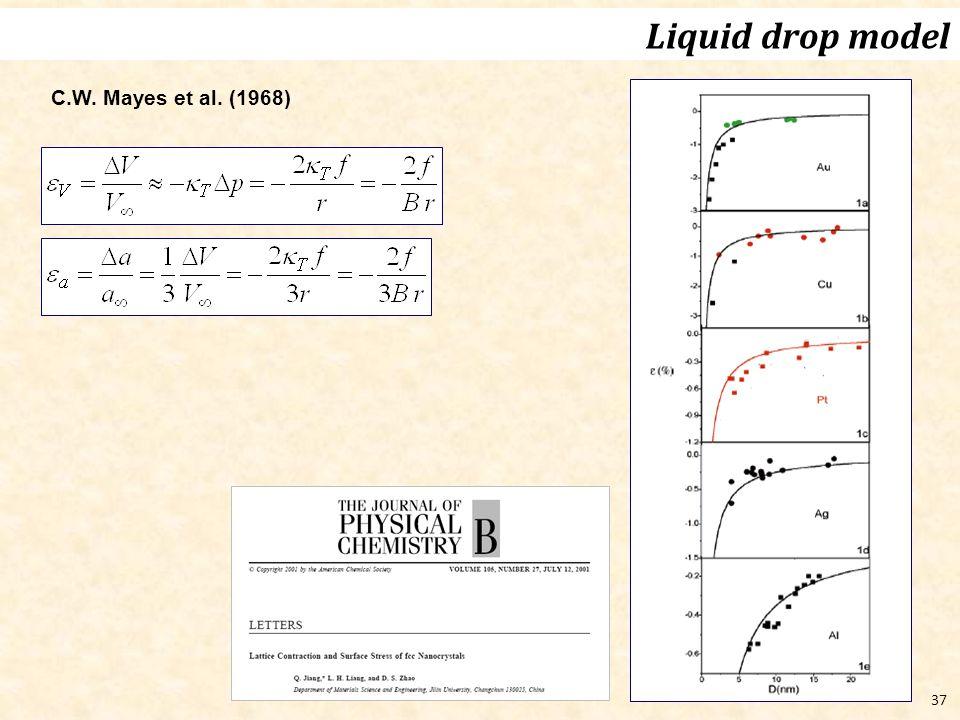 37 C.W. Mayes et al. (1968) Liquid drop model