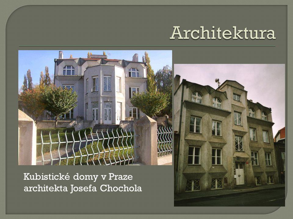 Kubistické domy v Praze architekta Josefa Chochola