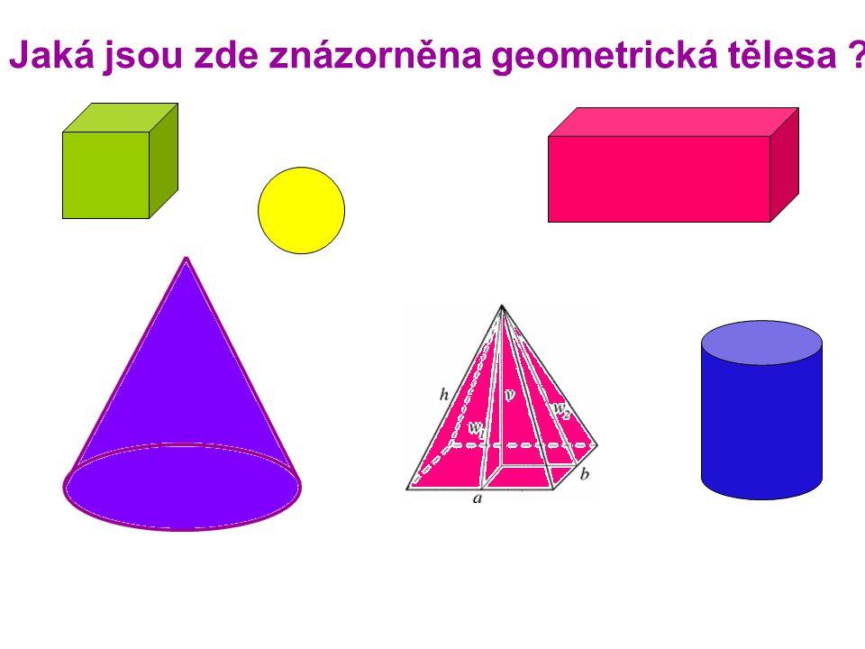 Jaká jsou zde znázorněna geometrická tělesa ?
