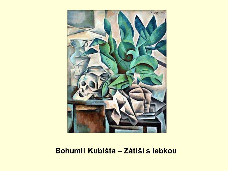 Bohumil Kubišta – Zátiší s lebkou