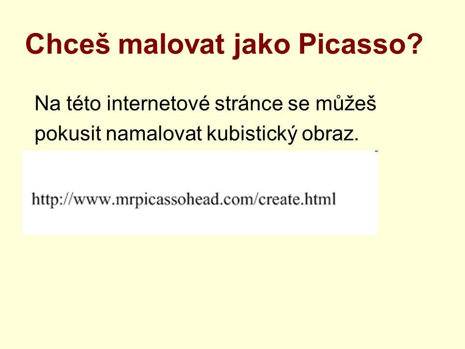 Chceš malovat jako Picasso? Na této internetové stránce se můžeš pokusit namalovat kubistický obraz.