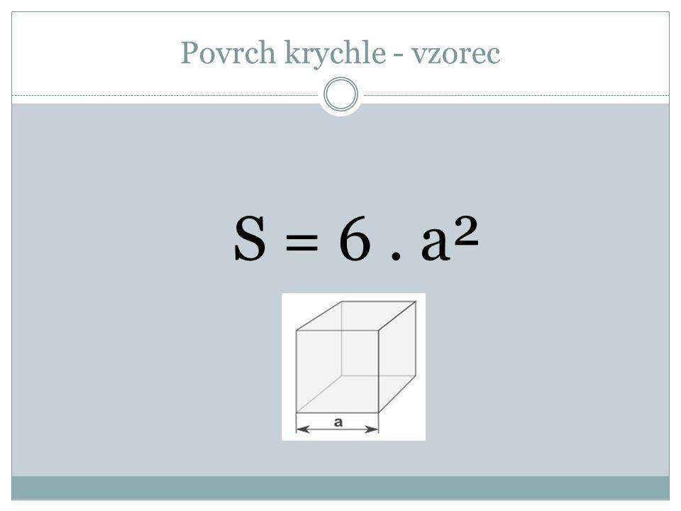 Povrch krychle - vzorec S = 6. a²