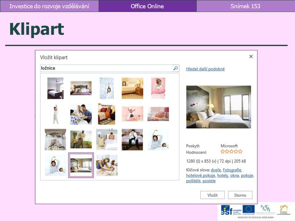 Klipart Office OnlineSnímek 153Investice do rozvoje vzdělávání