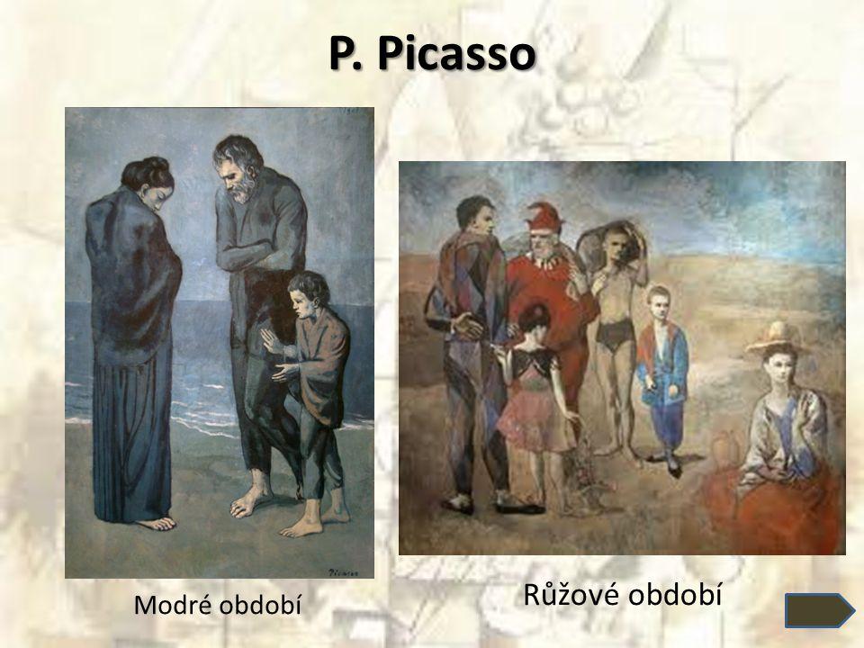 P. Picasso Modré období Růžové období