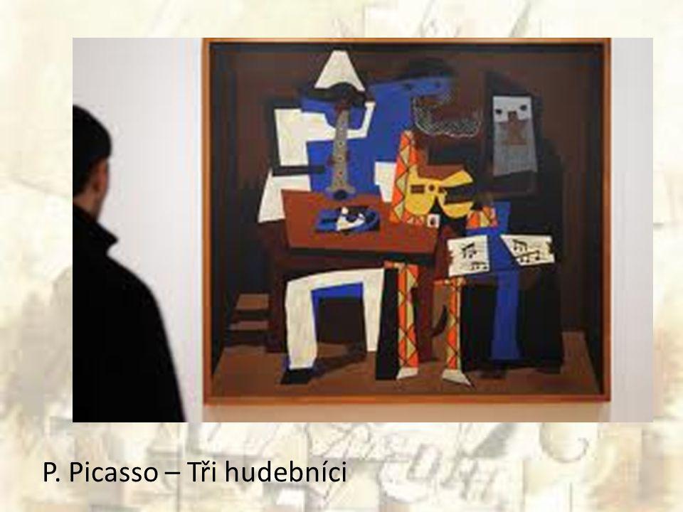 P. Picasso – Tři hudebníci