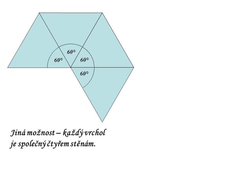 60° Jiná možnost – každý vrchol je společný čtyřem stěnám.