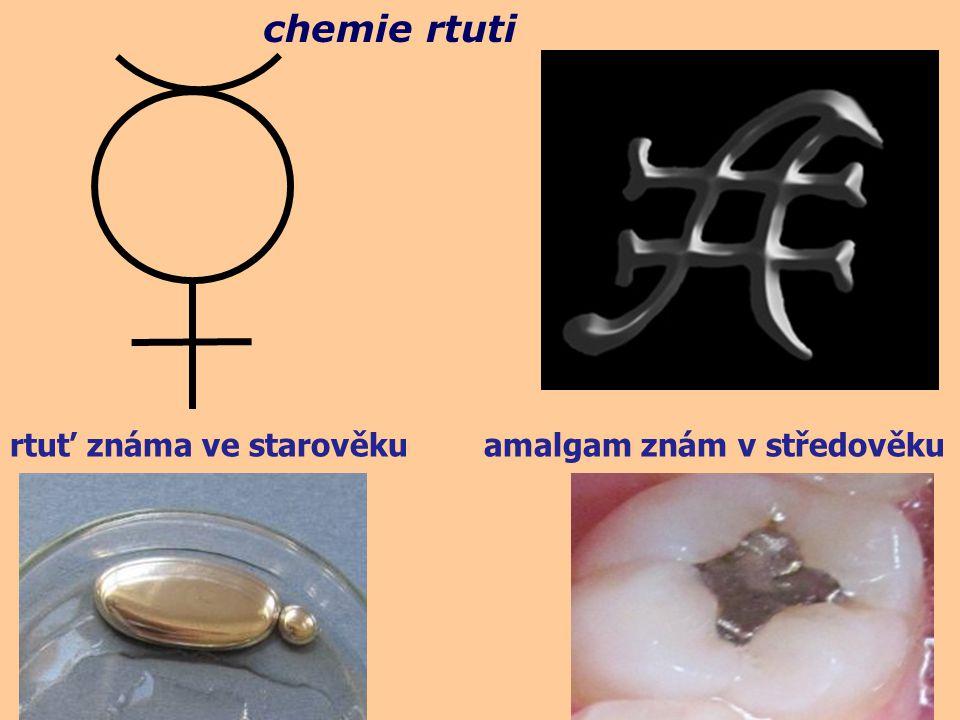rtuť známa ve starověku amalgam znám v středověku