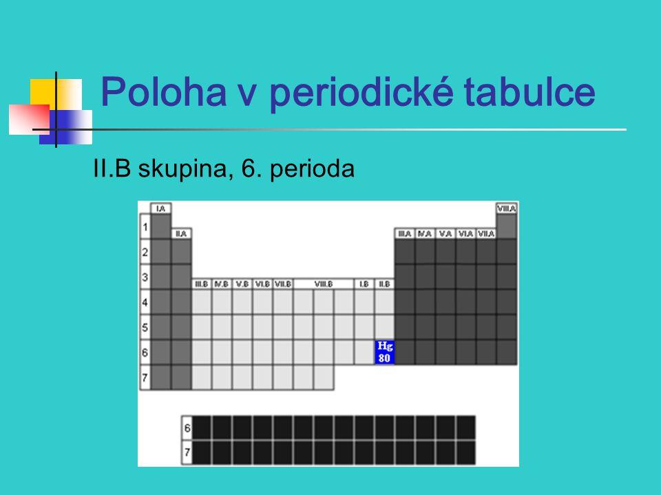 Poloha v periodické tabulce II.B skupina, 6. perioda