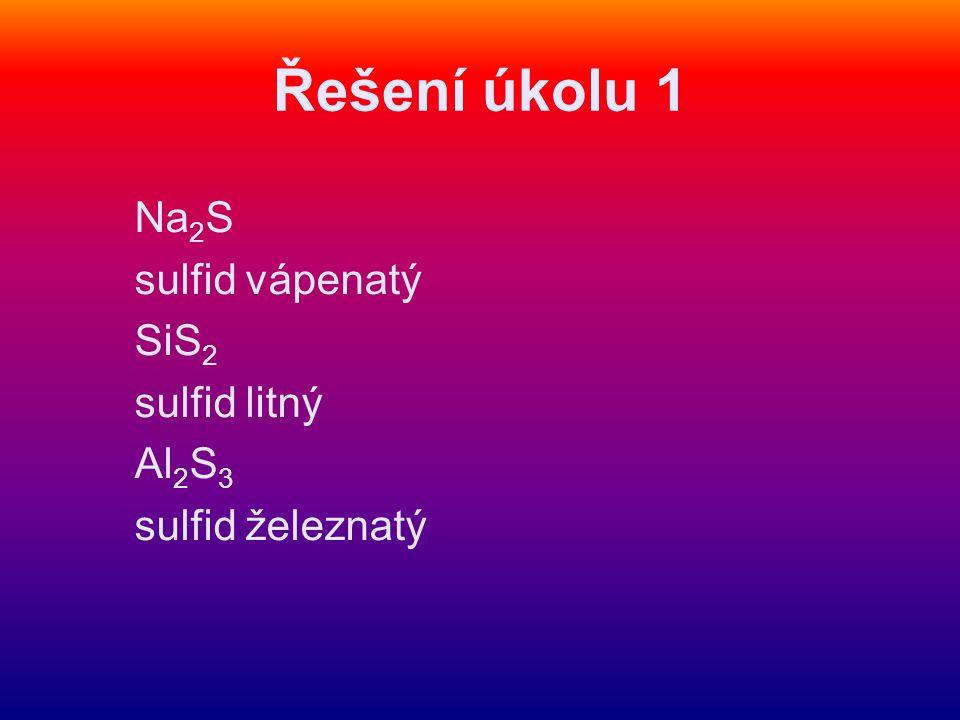 Příprava sulfanu Úkol 2: Doplň text podle pokusu a videoklipu: Sulfan (sirovodík) je ……..