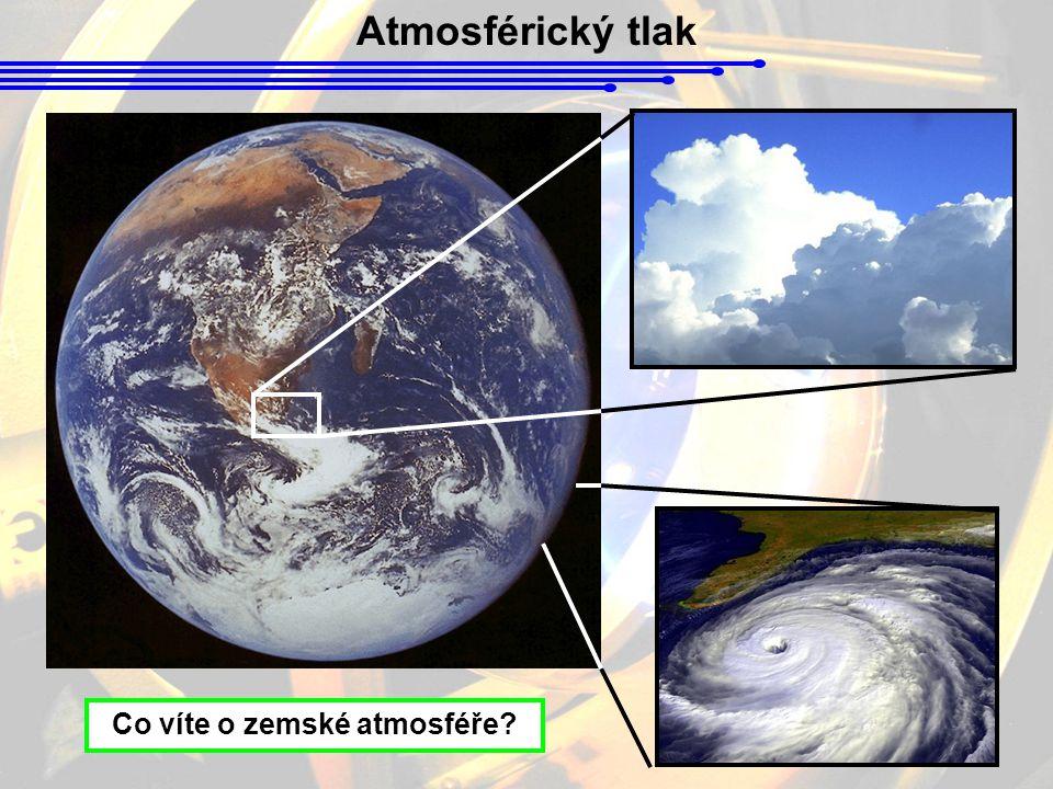 Atmosférický tlak Co víte o zemské atmosféře?