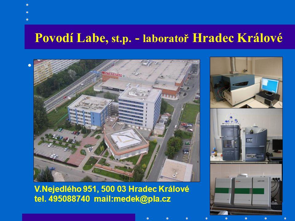 Povodí Labe, st.p.- laboratoř Hradec Králové V.Nejedlého 951, 500 03 Hradec Králové tel.
