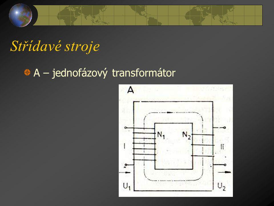 Střídavé stroje T r a n s f o r m á t o r y Transformátory jsou stroje bez pohyblivých částí, které mění napětí střídavého proudu při zachování kmitoč
