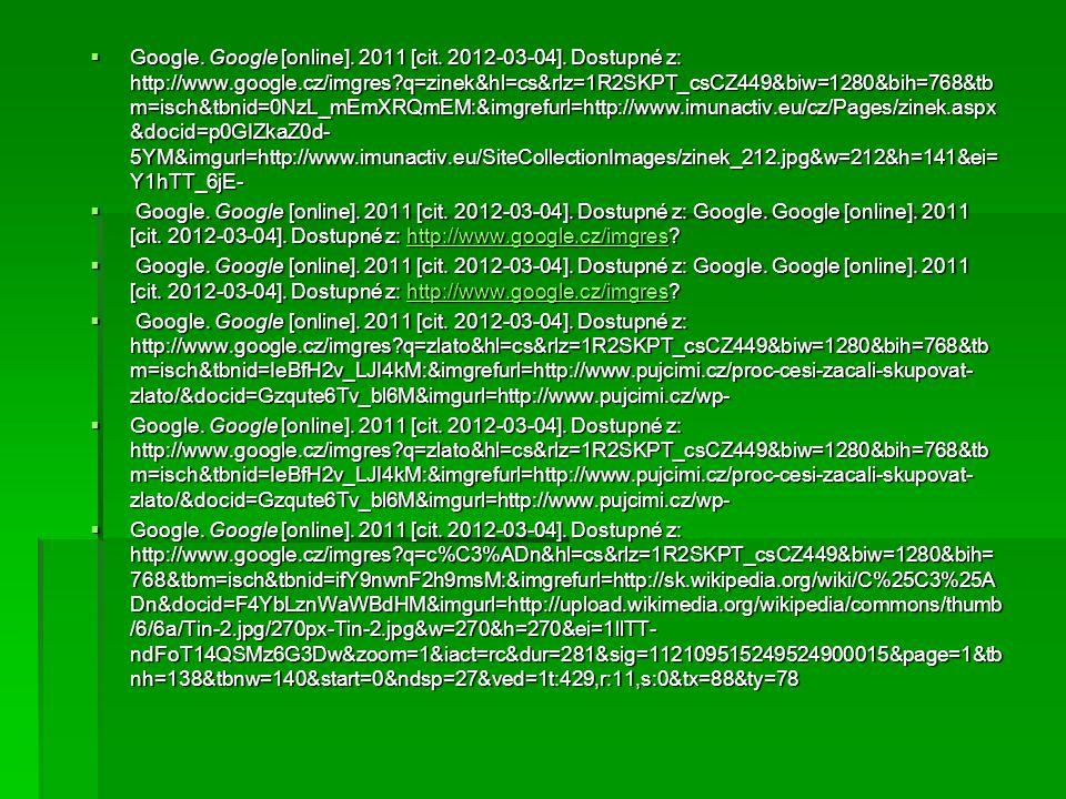  Google. Google [online]. 2011 [cit. 2012-03-04].
