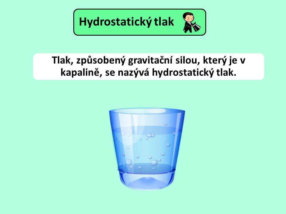 Tlak, způsobený gravitační silou, který je v kapalině, se nazývá hydrostatický tlak.