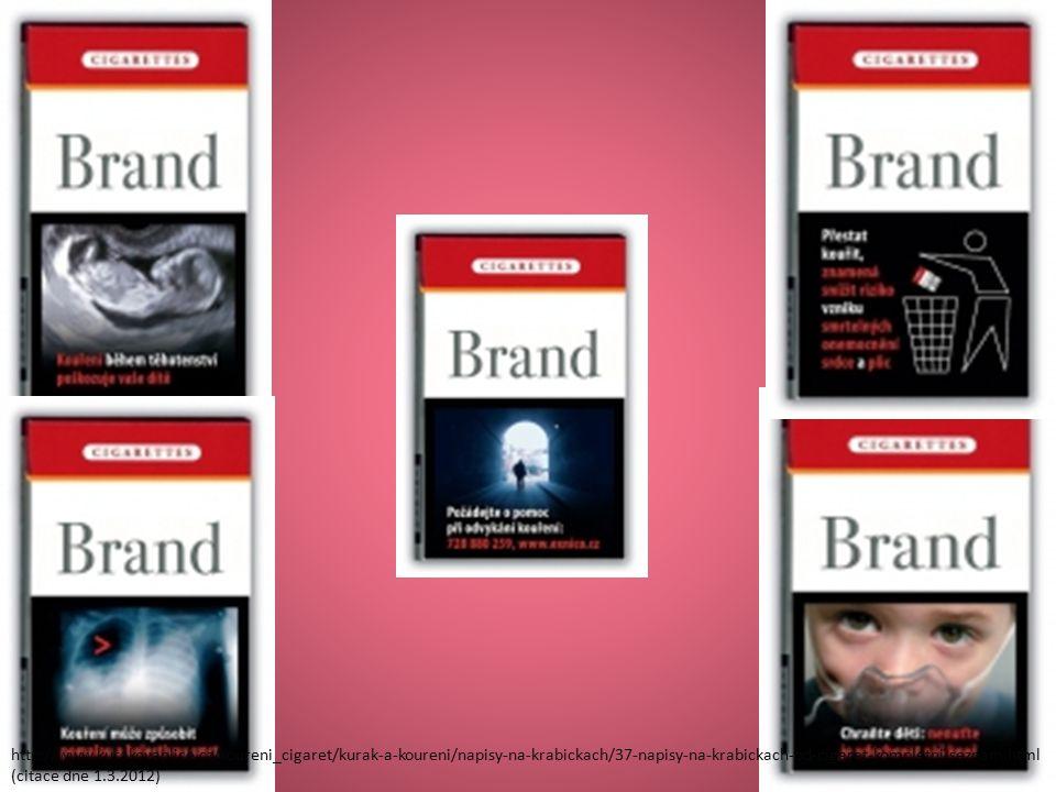 http://www.kurakovaplice.cz/koureni_cigaret/kurak-a-koureni/napisy-na-krabickach/37-napisy-na-krabickach-od-cigaret-kompletni-seznam.html (citace dne 1.3.2012)