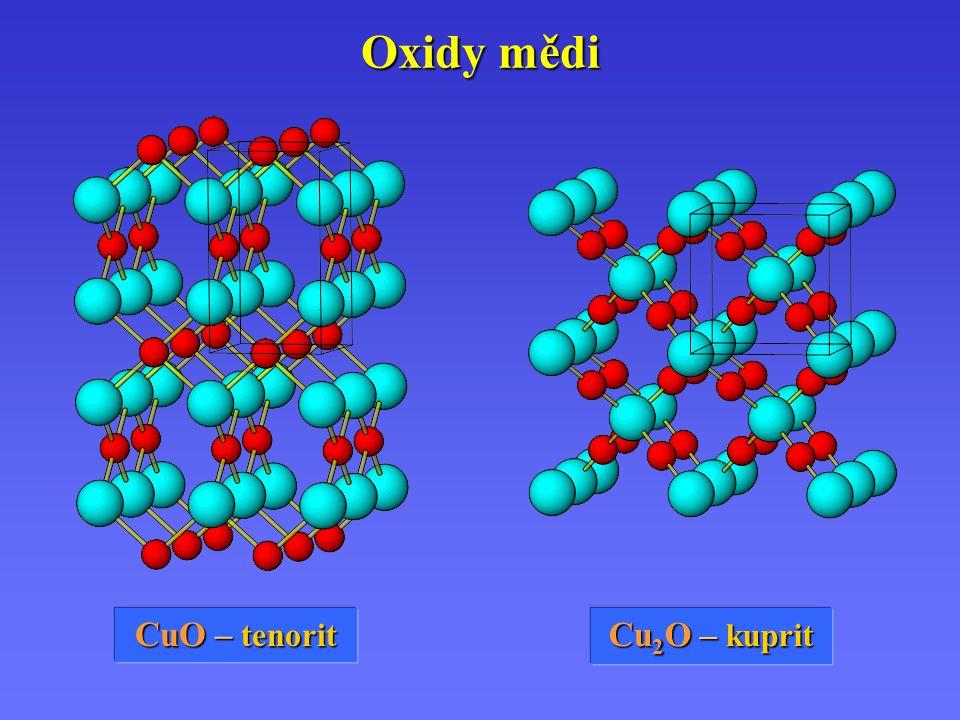 Oxidy mědi CuO – tenorit Cu 2 O – kuprit