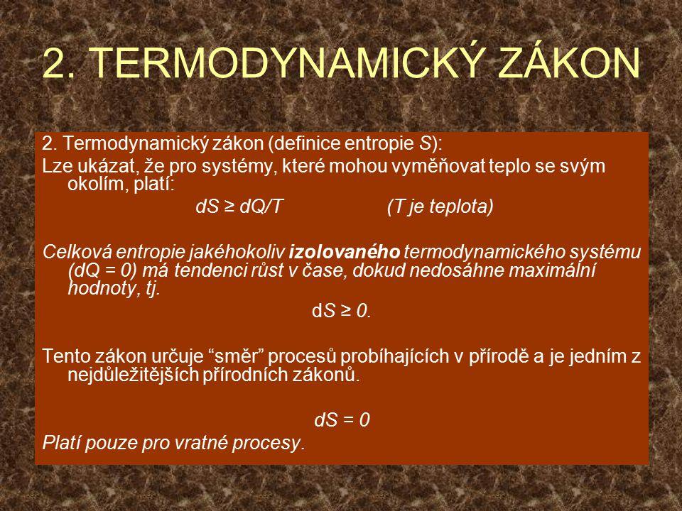 2. TERMODYNAMICKÝ ZÁKON 2.