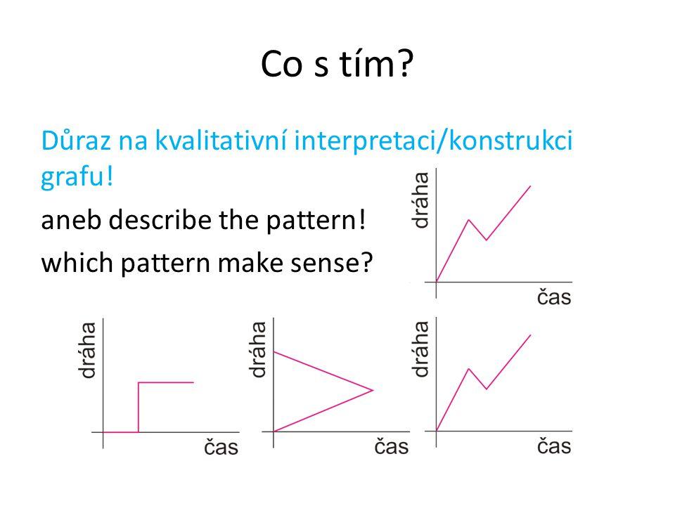 Co s tím? Důraz na kvalitativní interpretaci/konstrukci grafu! aneb describe the pattern! which pattern make sense?
