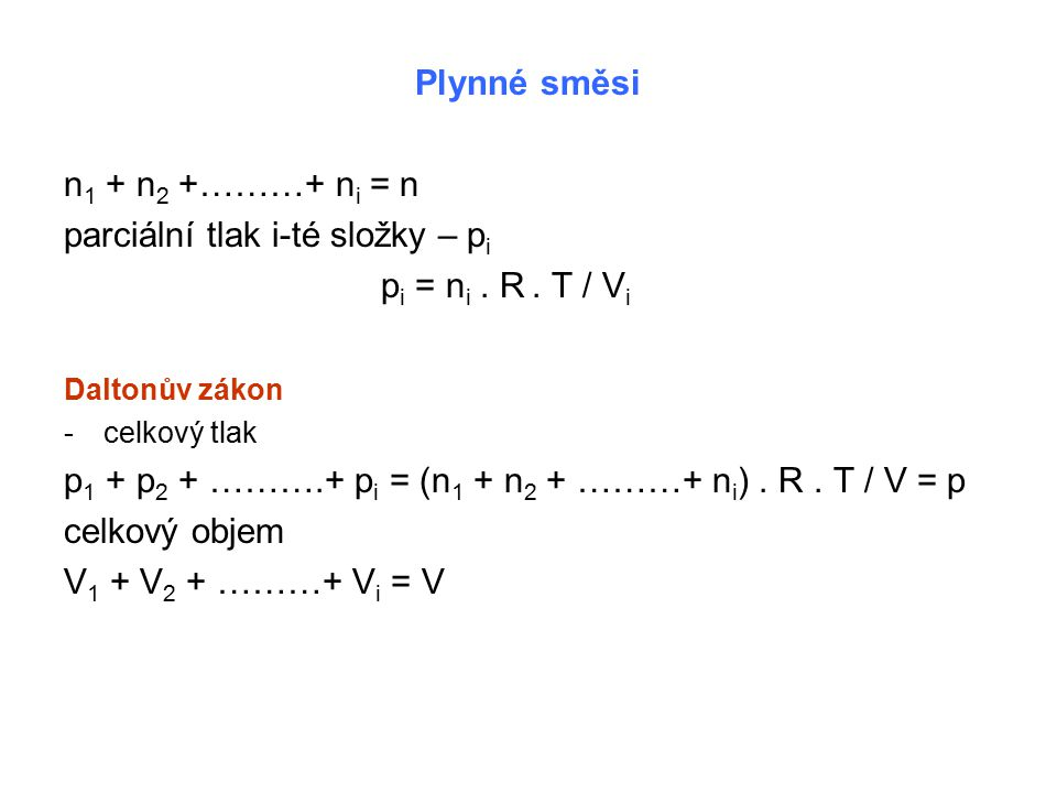 Reálný plyn -chová se odlišně od ideálního plynu -existuje mezimolekulová přitažlivost (n.