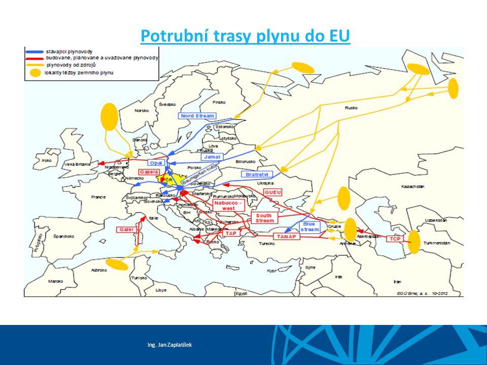 Ing. Jan Zaplatílek Potrubní trasy plynu do EU