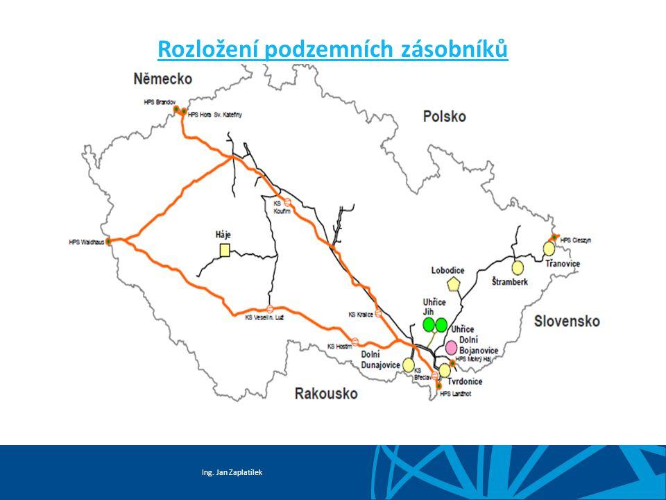 Ing. Jan Zaplatílek Rozložení podzemních zásobníků