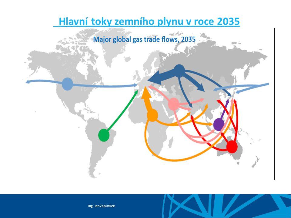 Ing. Jan Zaplatílek Hlavní toky zemního plynu v roce 2012