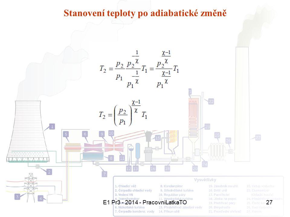 E1 Pr3 - 2014 - PracovniLatkaTO27 Stanovení teploty po adiabatické změně