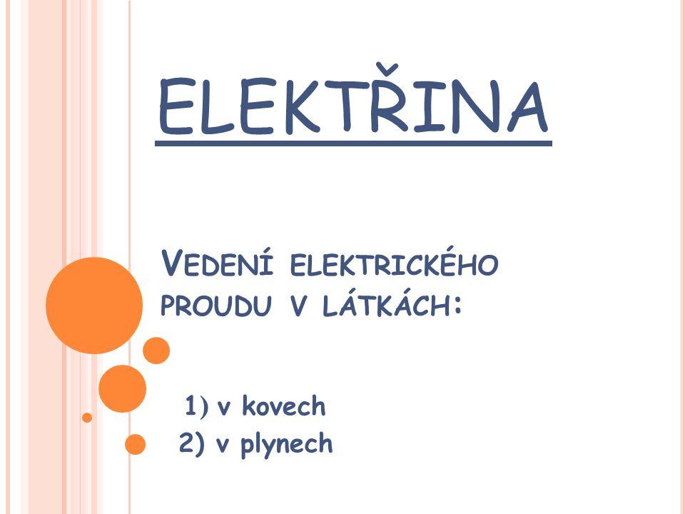 Příklady vedení elektrického proudu ve vzduchu nebo v plynech 1.