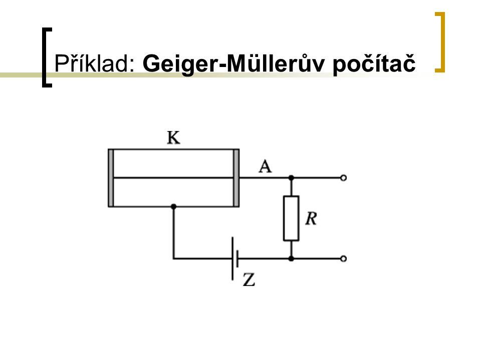 Příklad: Geiger-Müllerův počítač