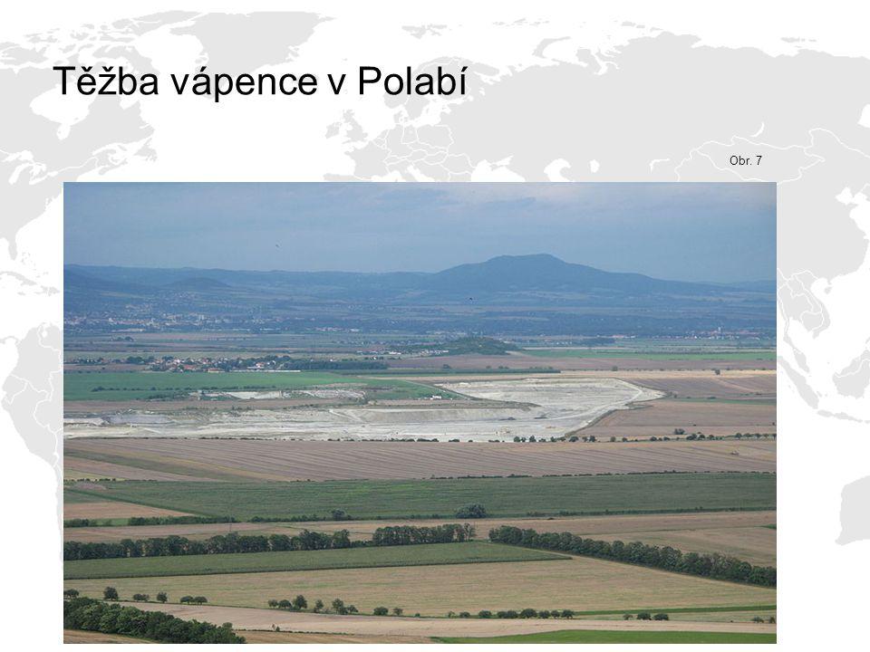Těžba vápence v Polabí Obr. 7