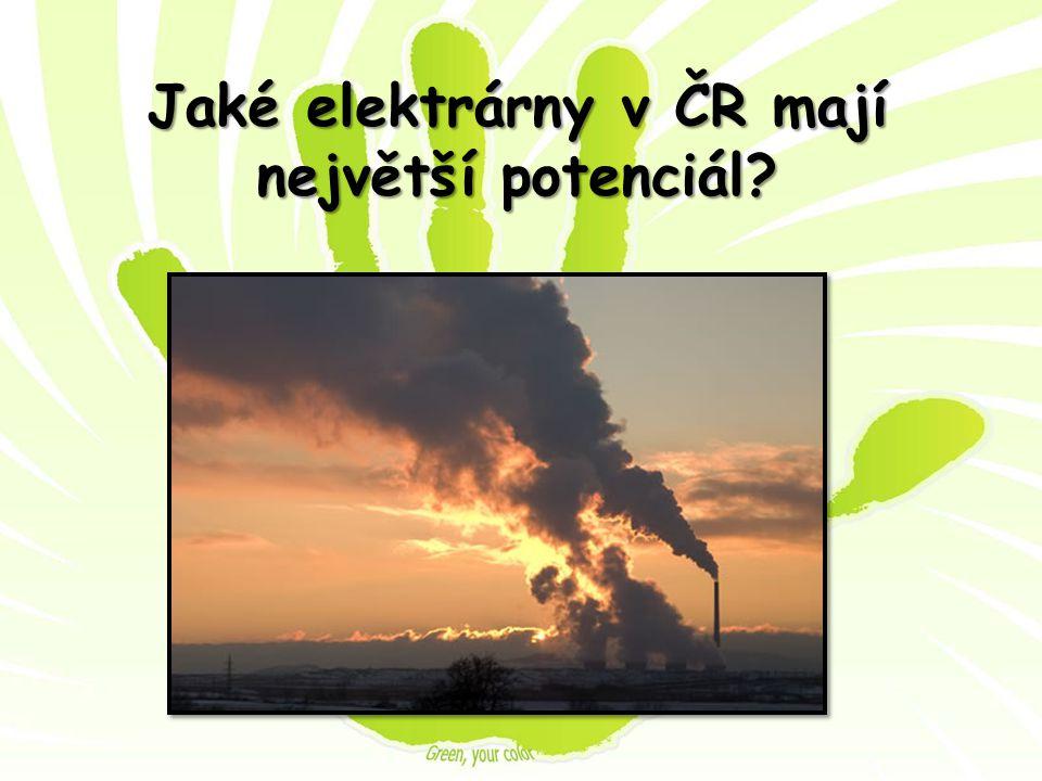 Jaké elektrárny v ČR mají největší potenciál?