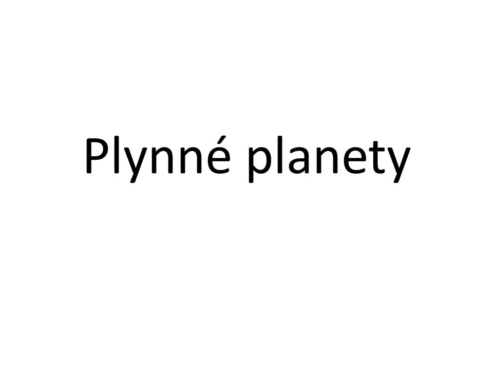 Plynné planety