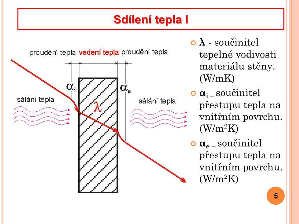 5 λ - součinitel tepelné vodivosti materiálu stěny.