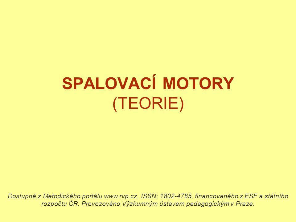 SPALOVACÍ MOTORY (TEORIE) Dostupné z Metodického portálu www.rvp.cz, ISSN: 1802-4785, financovaného z ESF a státního rozpočtu ČR. Provozováno Výzkumný