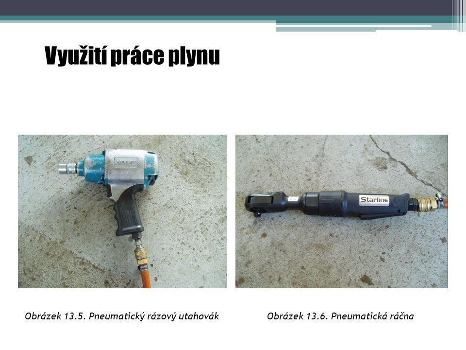Využití práce plynu Obrázek 13.5. Pneumatický rázový utahovákObrázek 13.6. Pneumatická ráčna