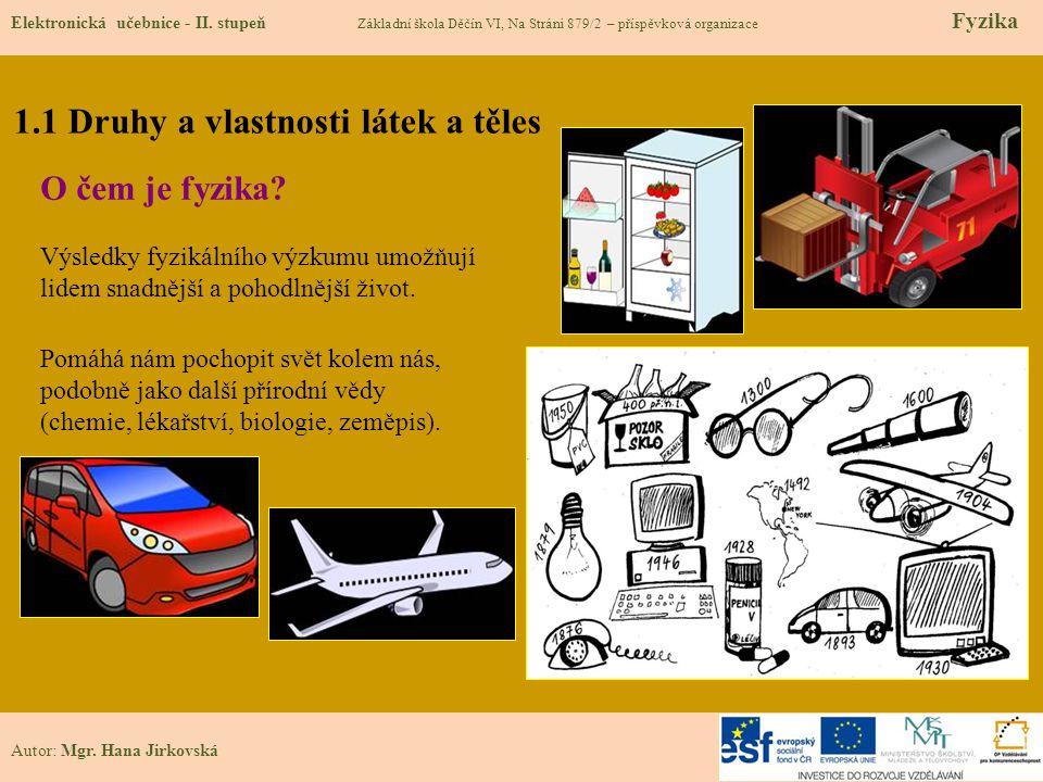 1.2 Známé pojmy Elektronická učebnice - II.