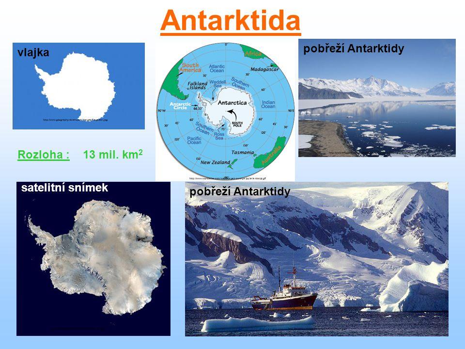 Antarktida je nejchladnější světadíl.Průměrné roční teploty jsou -25°C.