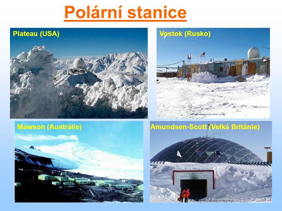 Polární stanice Plateau (USA) http://21stoleti.cz/wp-content/images/1142526718.jpg Vostok (Rusko) http://media.televize.cz/article/v9y5fpvv7udf.jpg Ma