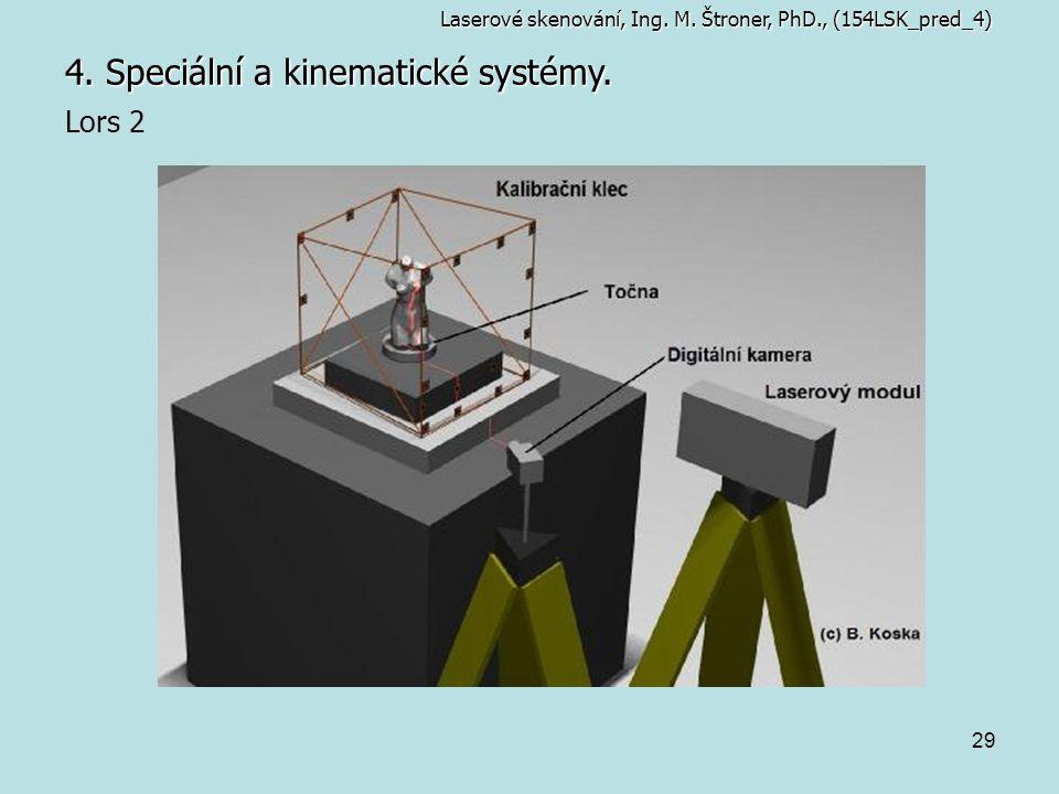 29 4. Speciální a kinematické systémy. Laserové skenování, Ing. M. Štroner, PhD., (154LSK_pred_4) Lors 2