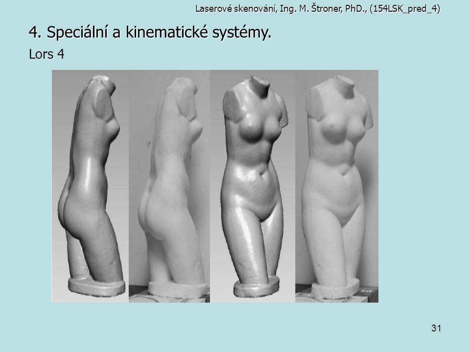 31 4. Speciální a kinematické systémy. Laserové skenování, Ing. M. Štroner, PhD., (154LSK_pred_4) Lors 4