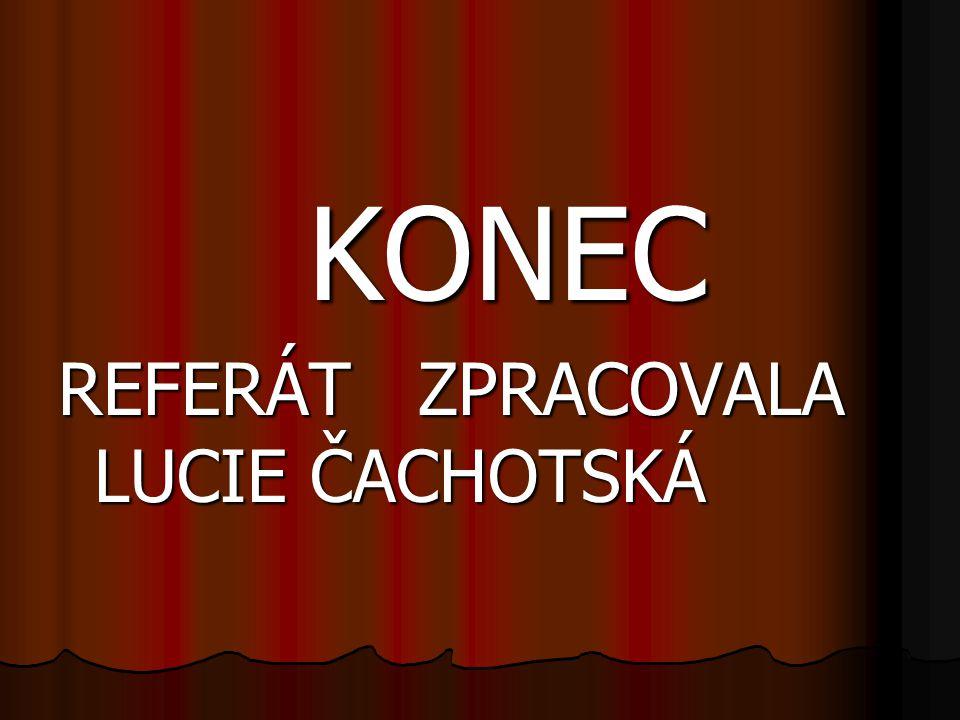 KONEC KONEC REFERÁT ZPRACOVALA LUCIE ČACHOTSKÁ