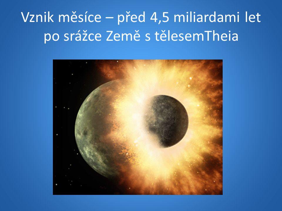 Vznik měsíce – před 4,5 miliardami let po srážce Země s tělesemTheia